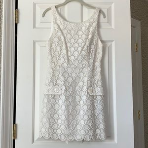 Bebe eyelet white dress (new with tags)